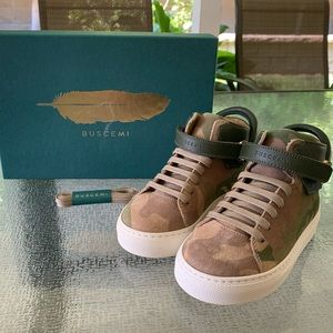 Brand new Buscemi 100MM kid suede